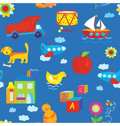 Baby toys seamless pattern vector