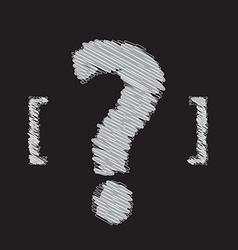 question mark symbol design vector image