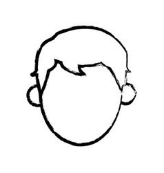 Head man male person sketch vector