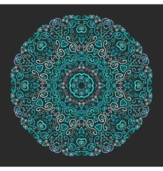 Beautiful aqua ornamental background vector image