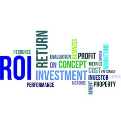 Word cloud roi vector