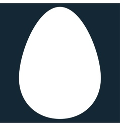 Egg flat white color icon vector