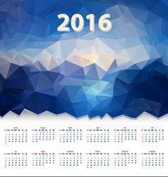 Year calendar triangular design vector