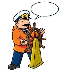 Funny captain or yachstman vector