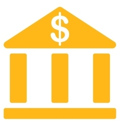 Bank icon from business bicolor set vector
