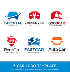 Car logo template design vector