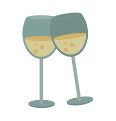 champagne toast cups vector image vector image