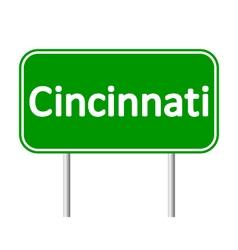 Cincinnati green road sign vector