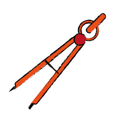 Drawing school compass tool study vector