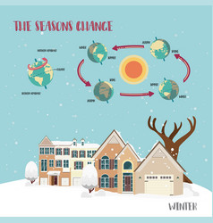 Earth seasons cycle vector