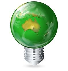 Eco-friendly light bulb vector