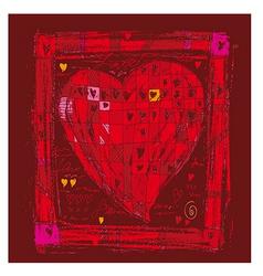 folk heart vector image vector image