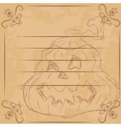for Halloween Pumpkin vector image vector image