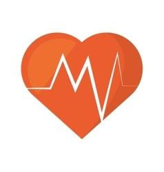 Heart rate montoring pulse health sport vector