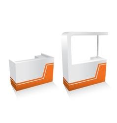 kiosks set vector image