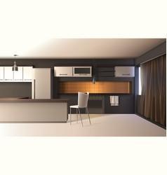 modern kitchen realistic interior vector image