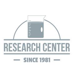 Molecular center logo simple gray style vector
