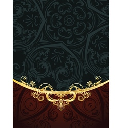 Red Decorative Background6 vector image vector image