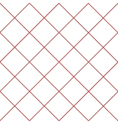 Red Grid White Diamond Background vector image vector image