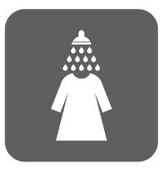 Shower wash female dress flat squared icon vector