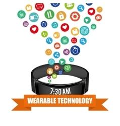 Smart wristband tracker fitness activity vector