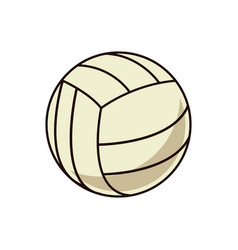 volleyball ball sport play equipment image vector image