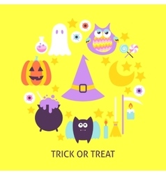 Trick or Treat Trendy Poster vector image