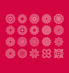 Art snowflake vector