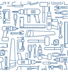 Hardware tool set linear seamless pattern vector