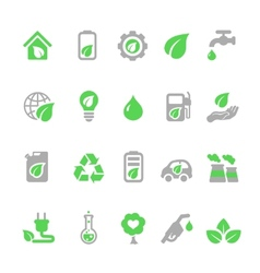 Ecology icons set green energy vector
