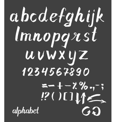 Hand drawn ink alphabet vector