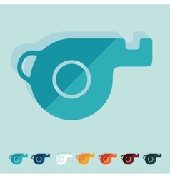 Flat design whistle vector