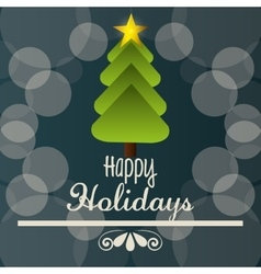 Happy holidays christmas design vector