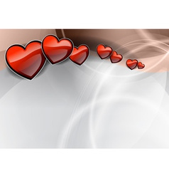 background with heart on the wave vector image