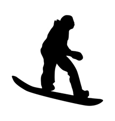 Snowboarder black silhouette vector image