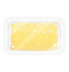 Cheese in packaging vector