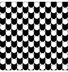 Black and white abstract pattern with circles vector