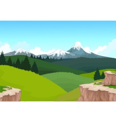 Beauty hilly mountain with landscape background vector