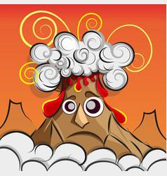 A volcano erupting vector