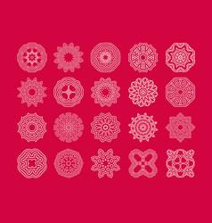 Art snowflake vector