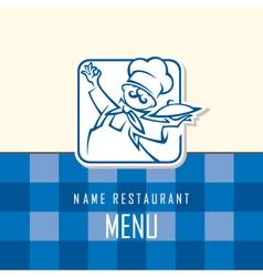 chef menu design vector image