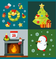 conceptual pictures of christmas celebration vector image vector image
