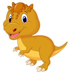 Cute dinosaur cartoon vector