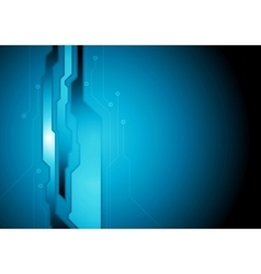 Dark blue abstract technology background vector image vector image