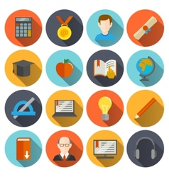 E-learning Icons Flat vector image
