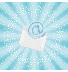 envelope with email vector image vector image