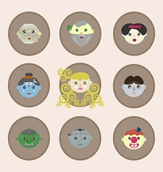 Fairy tale characters of the world vector