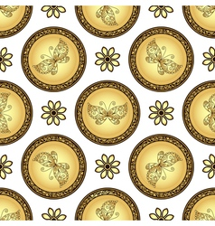 Gold and browne seamless pattern vector image