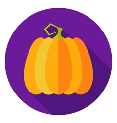 Halloween Pumpkin Circle Icon vector image