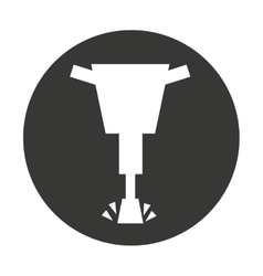 Hammer hydraulic isolated icon vector